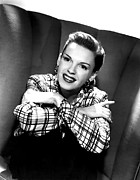 Hoop Earrings Posters - Judy Garland, Portrait Poster by Everett