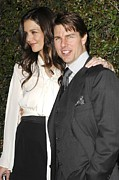 Katie Holmes Framed Prints - Katie Holmes, Tom Cruise In Attendance Framed Print by Everett