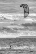 Water Sports Print Posters - Kite Surfer Poster by Chris Day