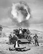 Sluice Prints - Korean War: Artillery Print by Granger