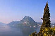 Haze Photo Prints - Lago di Lugano Print by Joana Kruse