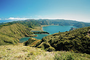 Oceanscape Framed Prints - Lagoa do Fogo Framed Print by Gaspar Avila