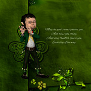 Leprechaun Digital Art - Leprechaun painting  by John Junek