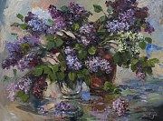 Dark Paintings - Lilacs by Tigran Ghulyan