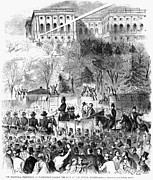 Democrat Prints - Lincolns Inauguration Print by Granger