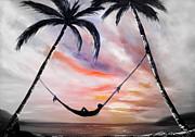 Sunsets Original Paintings - Living the Dream  by Gina De Gorna