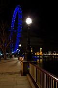 London Eye Night View Print by David Pyatt