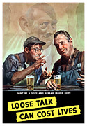 Caricature Metal Prints - Loose Talk Can Cost Lives Metal Print by War Is Hell Store