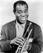 Trumpeter Art - Louis Armstrong 1900-1971 by Granger