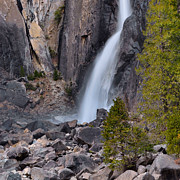 Nevada Falls Photos - Lower Yosemite Falls by Stephen  Vecchiotti