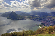 Ticino Framed Prints - Lugano Framed Print by Joana Kruse