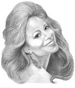 Mariah Carey Prints - Mariah Carey  Print by Murphy Elliott
