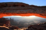 Mesa Arch Posters - Mesa arch sunrise in Canyonlands National park Poster by Pierre Leclerc