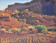 Desert Pastels Prints - Mesa Shadows Print by Donald Maier