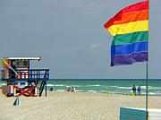 Gay Digital Art - Miami beach by Amanda Barcon