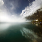 Alp Photos - Misty Morning by Angel  Tarantella