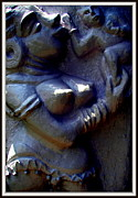 Sculptures Sculpture Framed Prints - Mother And Child Framed Print by Anand Swaroop Manchiraju