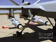 Usaf Framed Prints - Mq-9 Reaper Framed Print by Photo Researchers