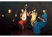 4 Musicians Print by Yan Zhou