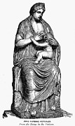 Roman Statue Prints - Mythology: Hera/juno Print by Granger