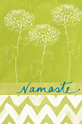 Celery Framed Prints - Namaste Framed Print by Linda Woods