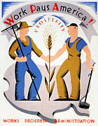 Overalls Art - New Deal: Wpa Poster by Granger