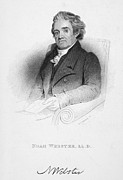 Noah Photo Framed Prints - Noah Webster (1758-1843) Framed Print by Granger