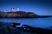 Cape Neddick Framed Prints - Nubble Lighthouse Framed Print by Brian Jannsen