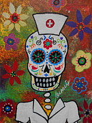 Sugar Skull Originals - Nurse Dia De Los Muertos by Pristine Cartera Turkus