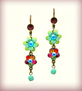 Multicolor Jewelry - Orly Zeelon The Burst Of Color Earrings by Orly Zeelon