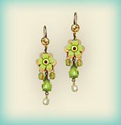 Multicolor Jewelry - Orly Zeelon The Tear Drop Crystal Floral Earrings by Orly Zeelon