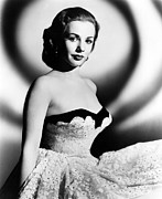Bare Shoulder Prints - Piper Laurie, 1952 Print by Everett