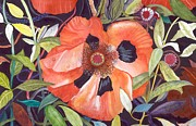 Orange Poppy Art Posters - Poppy II Poster by Donna Wiegand