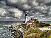 Hdr Photo Prints - Portland Head Lighthouse Print by Joe  Palermo