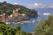 Rowing Boat Framed Prints - Portofino Framed Print by Joana Kruse