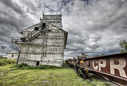 Alberta Landscape Prints - Prairie Grain Elevator Print by Mark Duffy