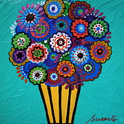 Mexican Paintings - Pristine Blooms by Pristine Cartera Turkus