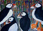 Puffin Paintings - 4 Puffin by Jennifer Addington