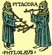Theory Prints - Pythagoras, Greek Mathematician Print by Science Source