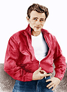 White T-shirt Framed Prints - Rebel Without A Cause, James Dean, 1955 Framed Print by Everett