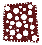Holes Prints - Red Abstract Print by Frank Tschakert
