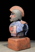Archaeology Sculpture Ceramics Metal Prints - Roman Legionaire - Warrior - ancient Rome - Roemer - Romeinen - Antichi Romani - Romains - Romarere  Metal Print by Urft Valley Art