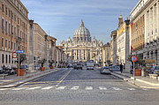 Vatican City Framed Prints - Rome - St. Peters Basilica Framed Print by Joana Kruse