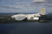 Vintage Air Planes Photos - Saab J 29 Vintage Jet Fighter by Daniel Karlsson