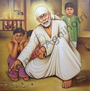 Baba Paintings - Sai Baba Painting by Navneet  Agnihotri