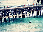 Clemente Acrylic Prints - San Clemente Pier Acrylic Print by Traci Lehman