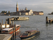 Touristes Photo Posters - San Giorgio Maggiore. Venice Poster by Bernard Jaubert