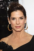 Hoop Earrings Prints - Sandra Bullock At Arrivals For The Print by Everett