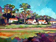 Park Landscape Mixed Media Originals - Santa Barbara by Filip Mihail