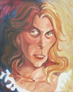 Molleur Painting Posters - Self Portrait Poster by Suzanne  Marie Leclair